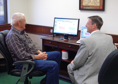 Al Wilson Hearing Instrument Specialist with Patient